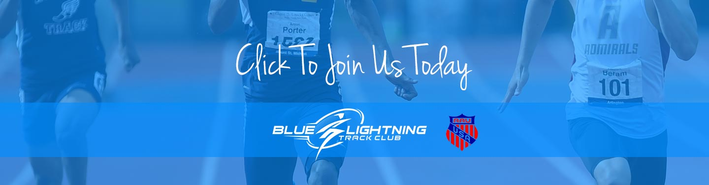 Join the Blue Lightning Track Club in Conyers, GA - Where Champions Are Made.