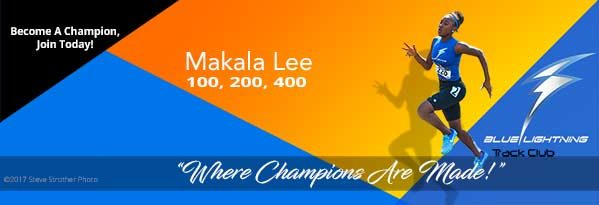 Makala Lee, Blue Lightning Track Club