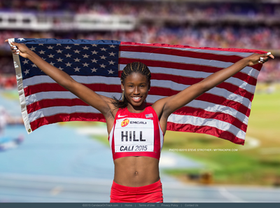 Candace Hill was Coached Sayon Cooper in 2015, to her American Record 100 m of 10.98, and 3 World Junior titles..