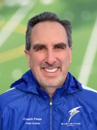 Robert Pepe, Field Events Coach, Blue Lightning Track Club