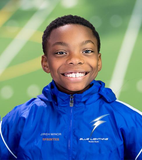 Jireh Minor, Sprinter, Blue Lightning Track Club