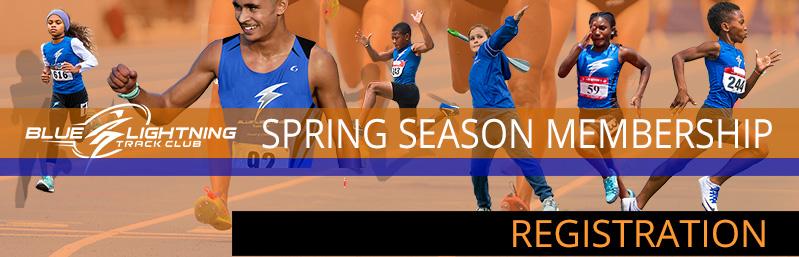 Blue Lightning Track Club Spring Track Season Membership